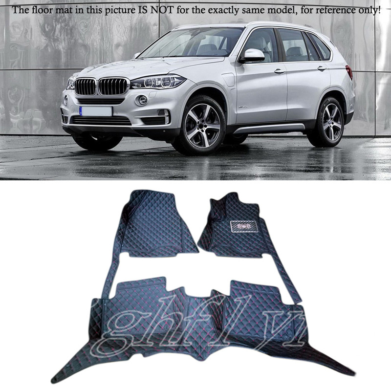 цена Interior Accessories Floor Mats Carpets Foot Pads 5 Seater/7 Seater For BMW X5 F15 2014 2015 2016 онлайн в 2017 году