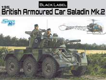 NEW Dragon Black label Series 1 35th Scale British Saladin Mk 2 Kit No 3554