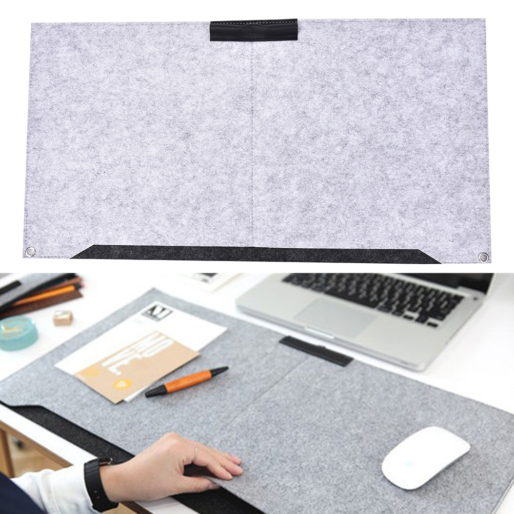Large Office Computer Desk Mat Modern Table Keyboard Mouse Pad Wool Felt Laptop Cushion Desk Mat Gamer Mousepad Mat