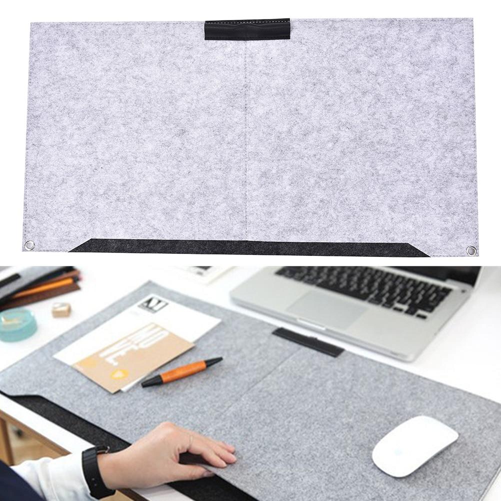Large Office Computer Desk Mat Modern Table Keyboard Mouse Pad Wool Felt Laptop Cushion Desk Mat Gamer Mousepad Mat