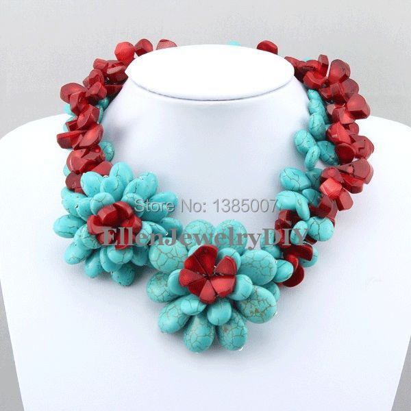 Nigerian Costume Flower beautiful Necklace,Holiday Party Necklace,Bridesmaid Necklace,Red Coral Necklace,Statement Jewelry