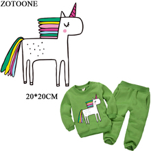 ZOTOONE Cartoon Unicorn Patches For children clothing Decoration Iron On Transfers Washable DIY Accessory New Design Heat Press