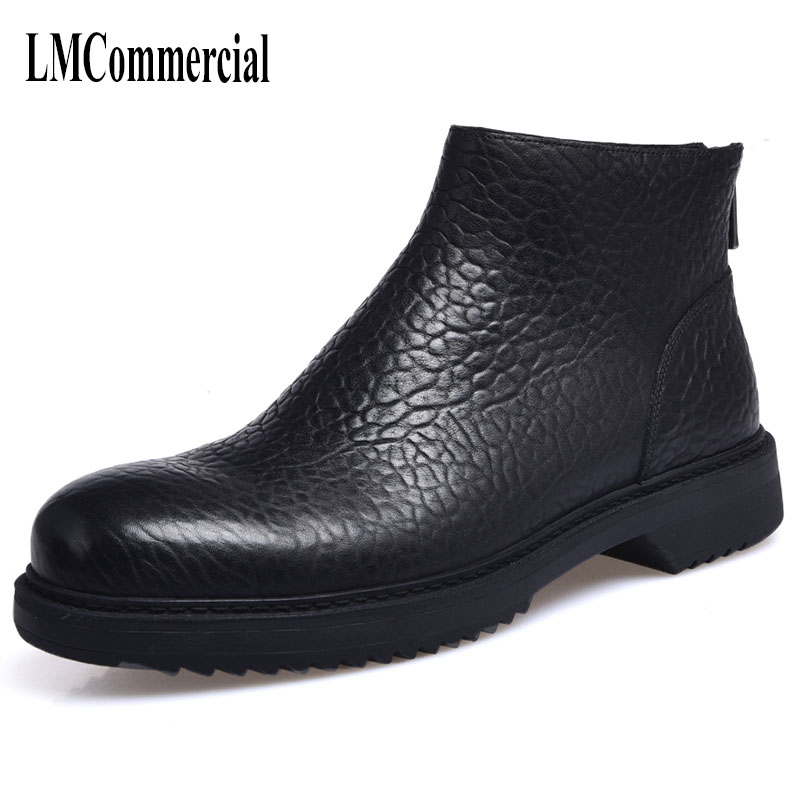 Europe Martin boots male trend of Korean in autumn and winter in men shoes Chelsea leather boots British retro men casual boots martin boots men s high boots korean shoes autumn winter british retro men shoes front zipper leather shoes breathable