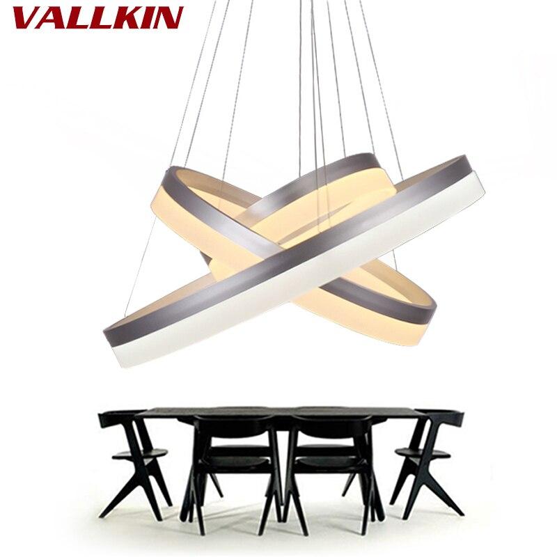Lustrové jídelní lustry kruhové kroužky lustrové světlo pro vnitřní osvětlení lampadario moderno Luster Lustrové lampy