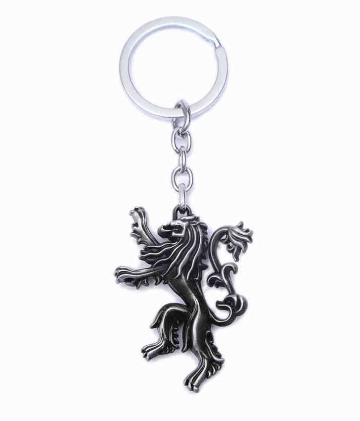 Fashion Metal Car Game of Thrones Lannister Family Badge Keychain keyring key chain ring For BMW Audi Volkswagen Ford