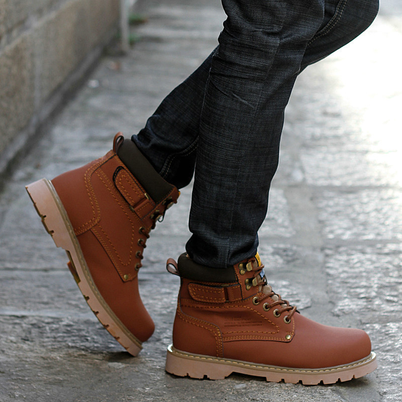 Online Shop Spring New Fashion Mens Work Boots Fall Men Ankle Work ...