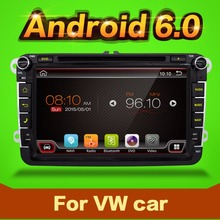 Dvd de voiture vw android 6.0 double din navigation gps Wifi + Bluetooth + Radio + Quad 4 core CPU DDR3 capacitif Tactile Écran Voiture PC Stéréo