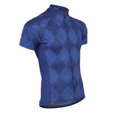 High Quality 5 Colors Lattice Short Sleeve Cycling Bike Jersey Roupas de Ciclismo Breathable Clothing Bicycle T-shirt