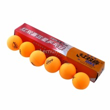 High Quality 1 boxes 6 Pcs 3 stars  40MM  Table Tennis ball white or Orange  Ping Pong Balls Durable For Competition