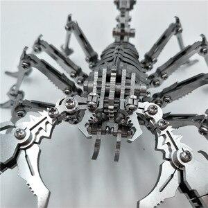 Image 4 - רובוט חרקים עקרב 3D פלדת מתכת סיים DIY תנועת מפרקים מיניאטורי דגם ערכות פאזל ילד שחבור תחביב בניין