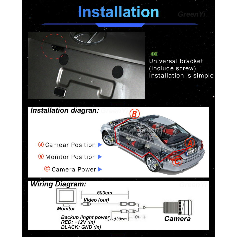 Greenyi Intelligent Dynamic Trajectory Tracks Rear View Camera For Nissan Juke Wiring Diagram Sony Ccd Qashqai Geniss Pathfinder Dualis Navara In Vehicle From