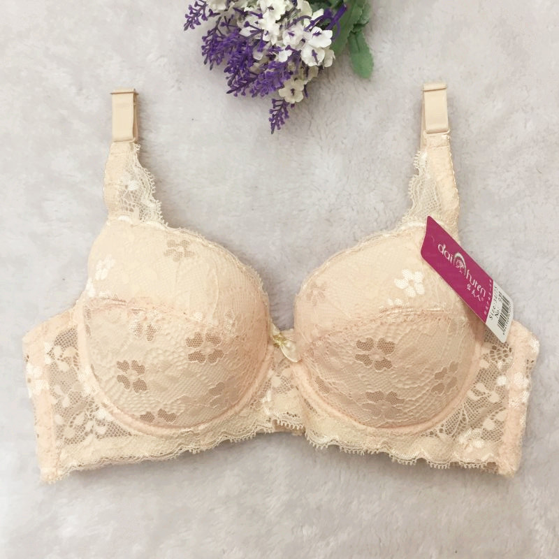 New Quality Large Size 70-40AB Lace Bra Gather Adjust Lace Lingerie Bra Set