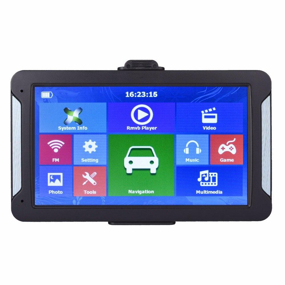Katarina gps automotivo, 7 polegadas, hd, navegação gps, fm, 8g, 256mb ou 128mb, mais recente, europa, mapa resistente ou caminhão capacitivo navegadores gps