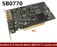 Original disassemble for Creative X Fi Xtreme Music SB0770 7.1 sound card fiber sound card, working good support XP/WIN7/8/10