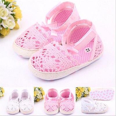 Baby Girls Shoes Size 0-18 Months Soft AntiSlip Prewalker Newborn 3 Size