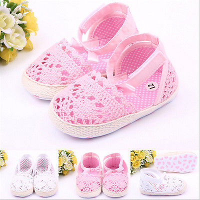 Baby Girls Shoes Size 0-18 Months Soft AntiSlip Prewalker Newborn 3 Size