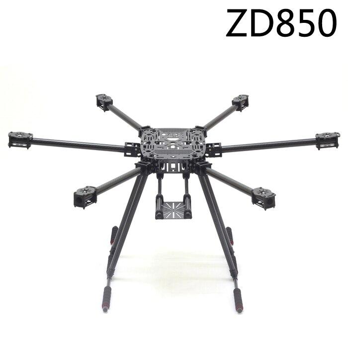 ZD850 Full Carbon Fiber ZD 850 Hexa Rotor Frame Foldable Arm Hexacopter Kit with Unflodable Landing Gear for FPV