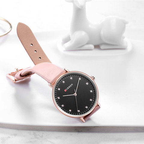 Top Brand CURREN New Fashion Leather Ladies Watches Analog Quartz Female Clock Luxury Women Rhinestone Watches Valentine Gifts Islamabad