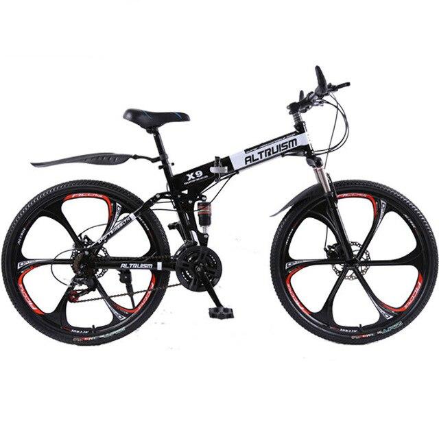 ALTRUISM X9 Горный Велосипед Стали 24 Скорость Складной Велосипед Двойной Диск Тормоза Bikes 26 Дюймов Велосипед
