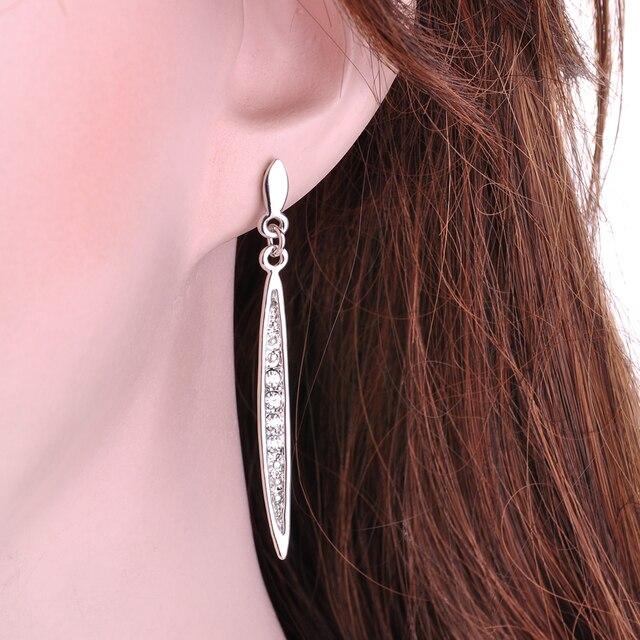 Yanqueens Simple Thin Strip Crystal Charms Dangle Earring Drop Earrings Ethnic Tribal Festival Jewelry women statement jewelry 4