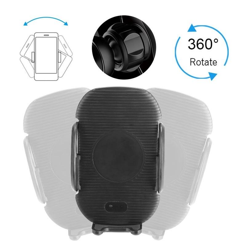 Беспроводной телефон Зарядное устройство QI Беспроводной Зарядное устройство Портативный зарядки крепление быстрой зарядки Сенсорный Управление индукция инфракрасного света 10 Вт смарт