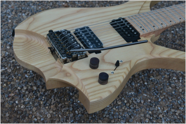 7 Strings Headless Electric Guitar  style wood color Flame maple Neck 3