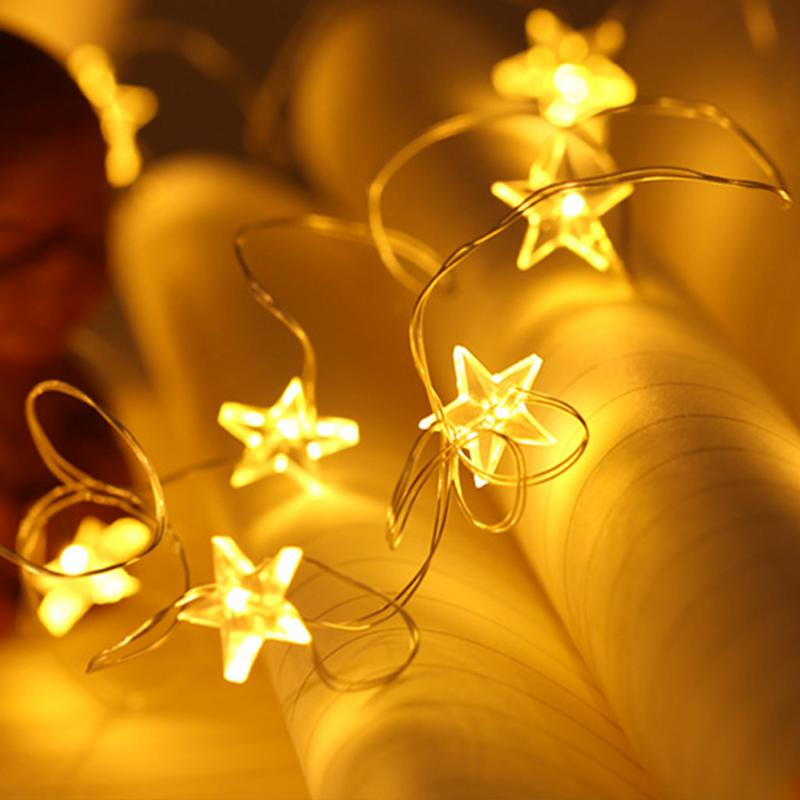 3 Meter Beautiful Little Stars 30 LEDs Copper Wire String Light For Christmas Party Home Living Room Decor