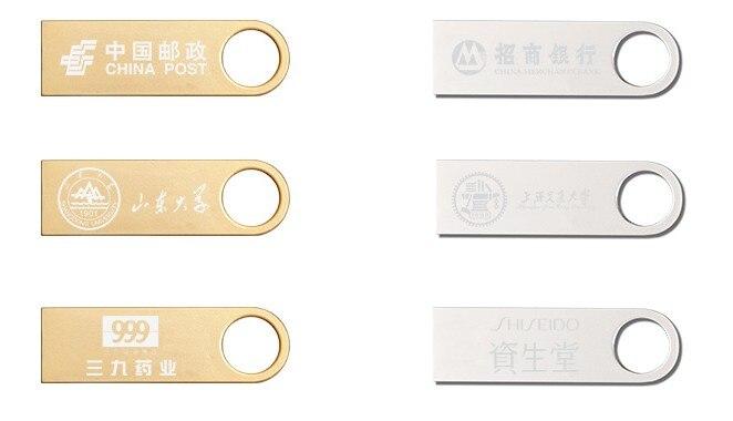 Custom LOGO pen driver 4gb 8gb usb flash drive 16 gb 32 gb usb pendrive mini usb memory stick usb disk with metal key chain