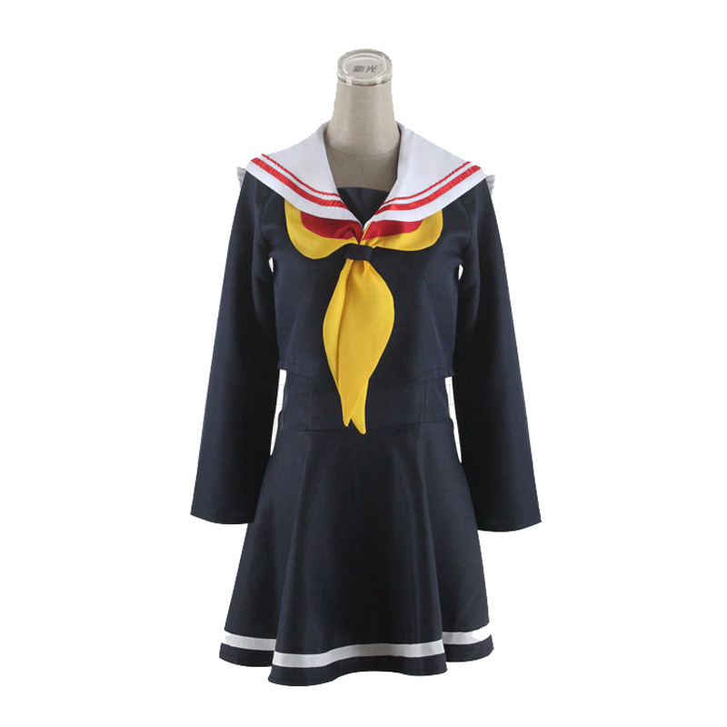Halloween Party Cosplay Costumes Anime No Game No Life Shiro Cosplay Sailor Dress For Women (Top+ Skirt+ Bow Tie) New