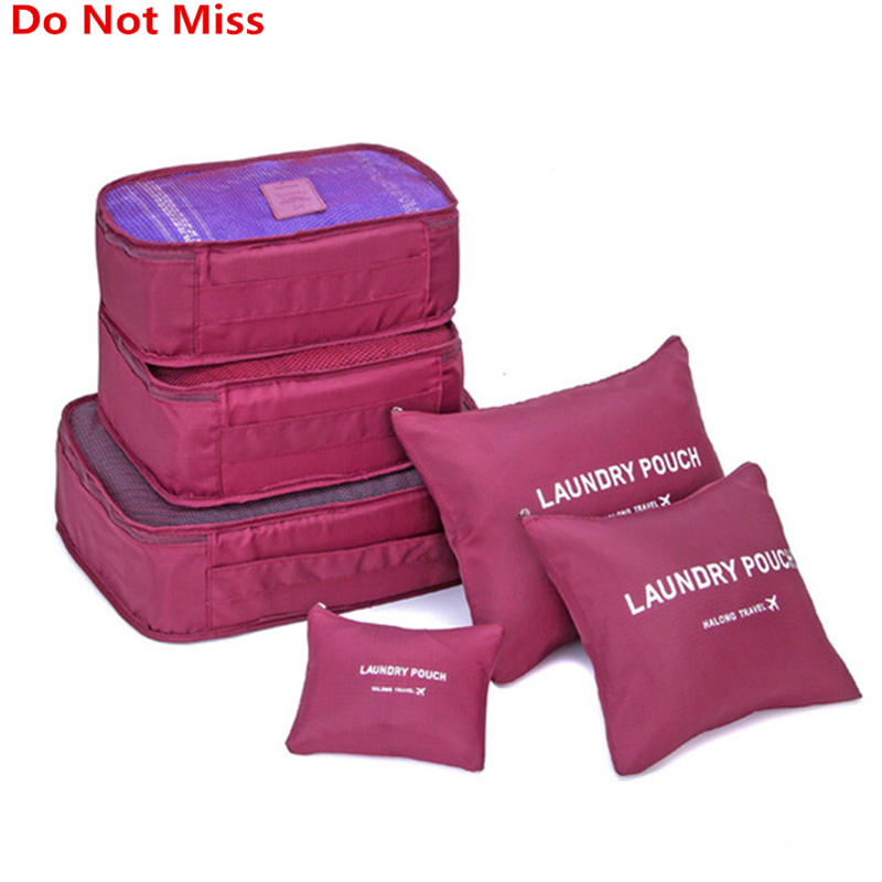 Do Not Miss high quality 6pcs set luggage Travel organizer bag large for Men women Multifunction