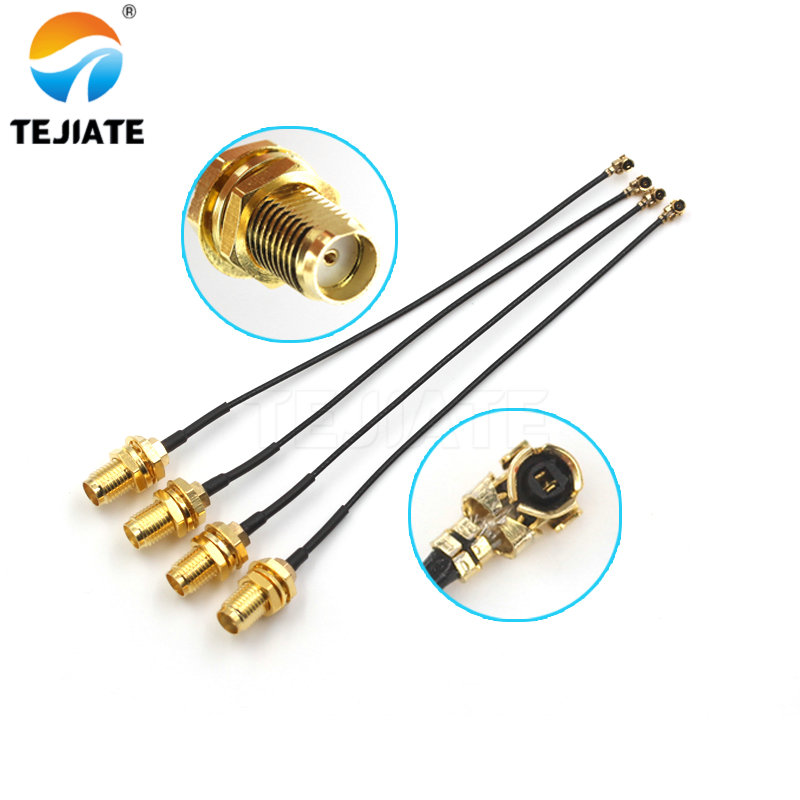 5pcs SMA Connector Cable Female To UFL/u.FL/IPX/IPEX RF Or NO Connector Coax Adapter Assembly RG178 Pigtail Cable 1.13mm RP-SMA
