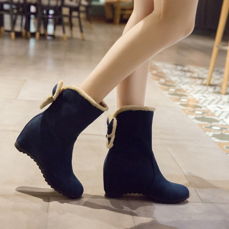 ankle boots for women winter boots women snow boot butterfly-not height increasing scrub fashion shoes woman free shipping &11-5