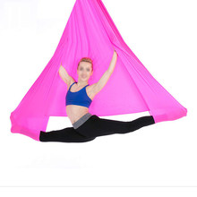Elastic Aerial Yoga Hammock 4m Premium Aerial Silk Fabric Flying Yoga Swing for Anti-gravity Yoga Inversion Exercises Training(China)