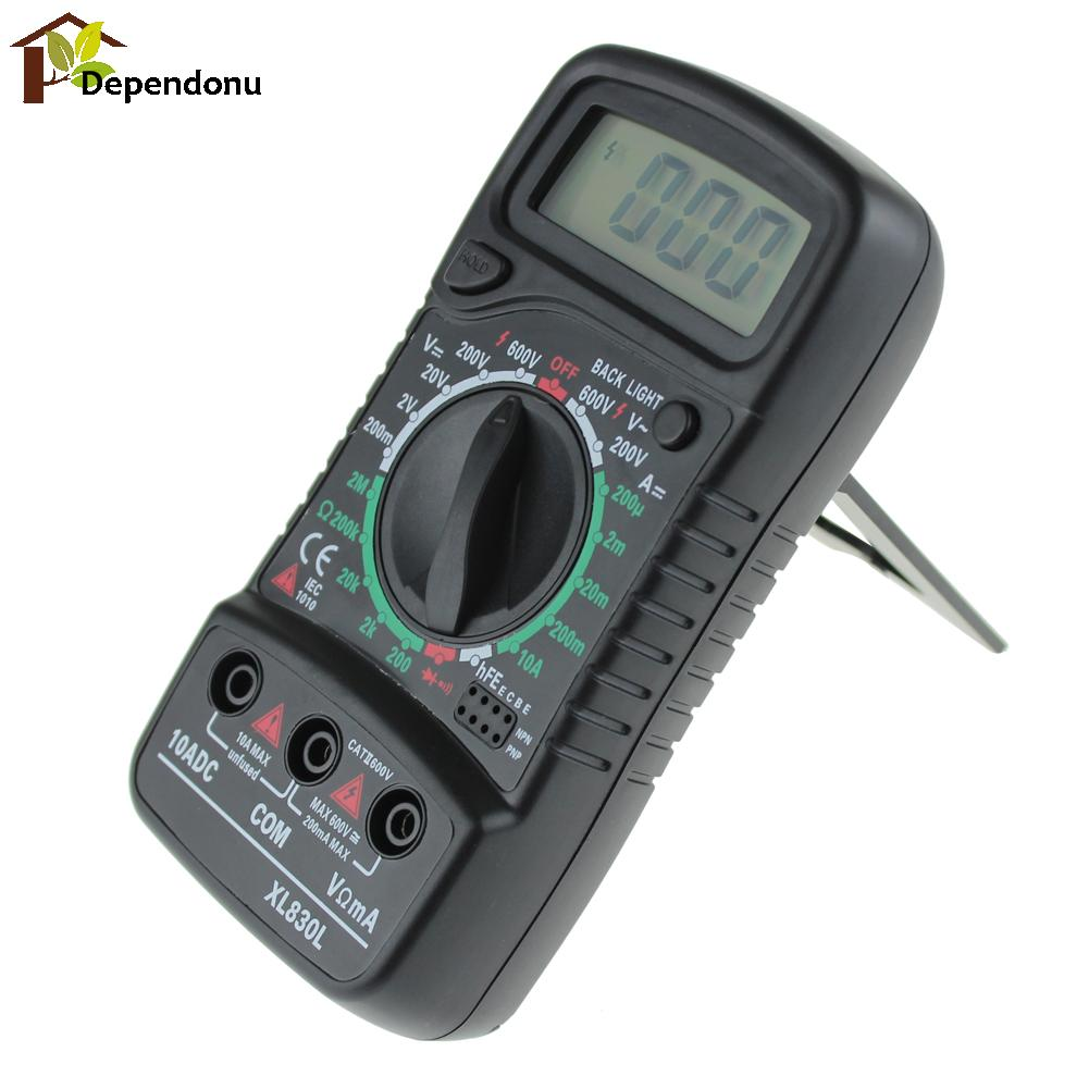 Portable LCD Display Digital Multimeter Multi Meter AC/DC Voltage Meter DC Ammeter Resistance Tester with Blue Backlight