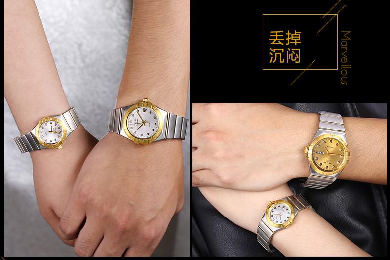 GUANQIN Gold Couple Watches Men Automatic Mechanical Watch Women Quartz Watch Luxury Lover Watch Waterproof Fashion Wristwatches (9)