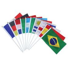 100 стран по всему миру Флаг маленький флаг, Кубок Европы бар Олимпийских игр Висячие флаги маленькая Франция ручные Взвешивание