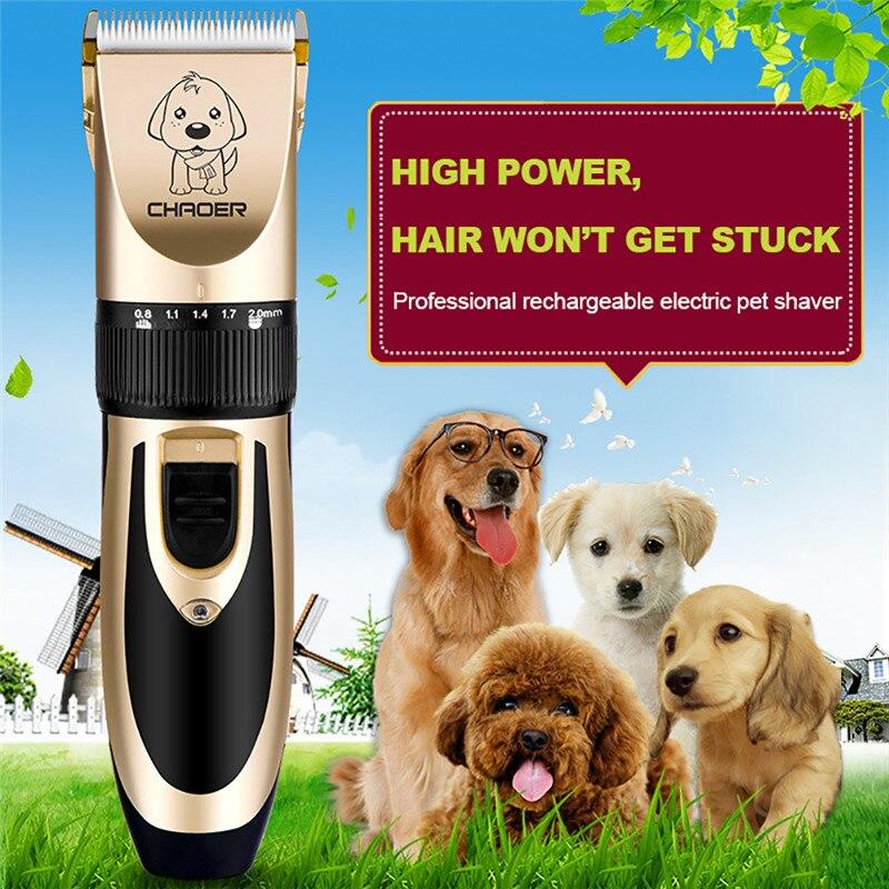 Chat Chien Tondeuse Électrique Pet Hair Clipper Remover Cutter Toilettage Faible Bruit Rechargeable Sans Fil Animaux Coupe de cheveux Machine