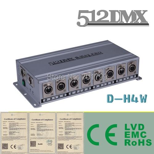 4 Way DMX Splitter AC110V AC220V input 2 DMX inputs to 4 DMX outputs