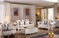 Лидер продаж 2016 года Настоящее нет ткань погремушка шезлонг современный американский Гостиная мебелью для Цветочным Узором Диван 3 + 2 + 1 мес...