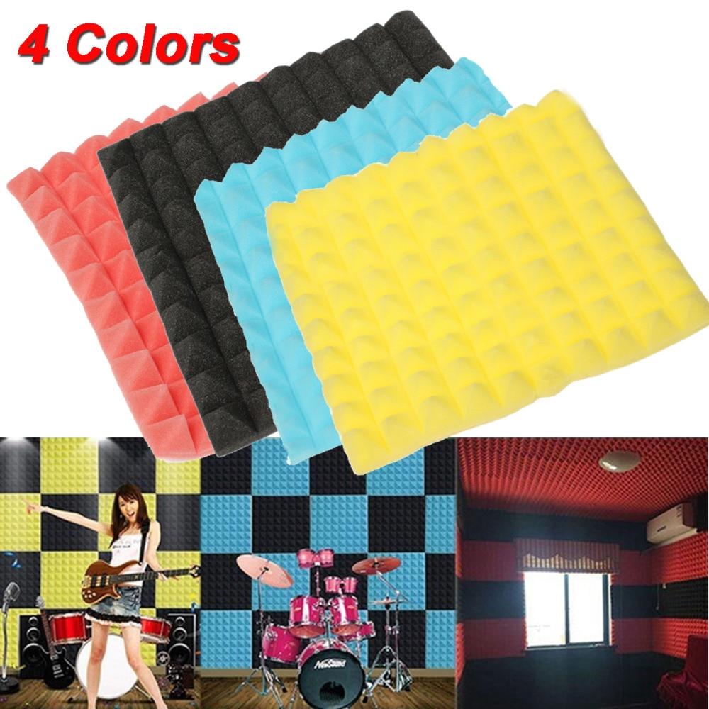 50*50cm*5.5cm Four Colors Blue/Yellow/ Red/ Black Soundproof Sponge Foam Sound-absorbing Treatment  Using For Studio /KTV