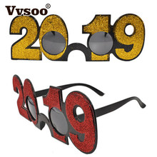 9fb795029a Vvsoo 1Pc 2019 New Years Eve Glasses Novelty Sunglasses Party Photo Prop  Christmas Party Decorations Supplies-in Party DIY Decorations from Home    Garden on ...