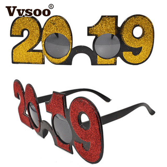 Christmas Party 2019 Clipart.Us 2 28 30 Off Vvsoo 1pc 2019 New Years Eve Glasses Novelty Sunglasses Party Photo Prop Christmas Party Decorations Supplies In Party Diy