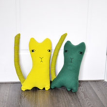 Novel baby kids Green Cat Pillow Cushion Soft Cushion Decorative Pillows Throw Pillow Birthday Gift for Children Girlfriend(China)