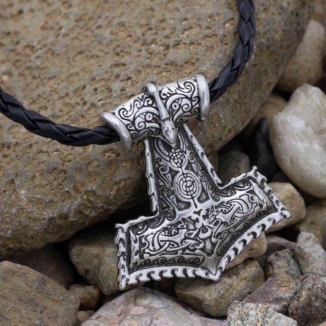 US $3 19 15% OFF|Raven Thor's Hammer Pendant Slavic Norway Valknut pagan  amulet pendant Men necklace Viking jewelry Symbol of Norse-in Pendant