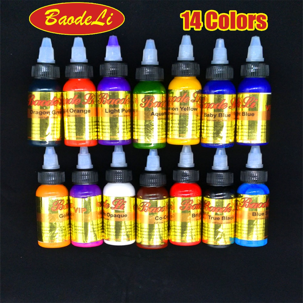 30ml/bottle tattoo ink set permanent makeup art pigment 14PCS cosmetic tattoo paint for eyebrow eyeliner lip body Body makeup 10 colors tattoo makeup permanent tattoo ink set 15ml one bottle biotouch pigment for eyebrow embroidery tattoo makeup pigment