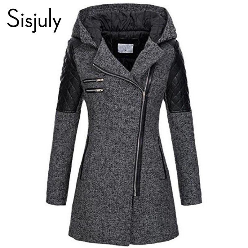 Sisjuly Women Color Block Winter Hooded