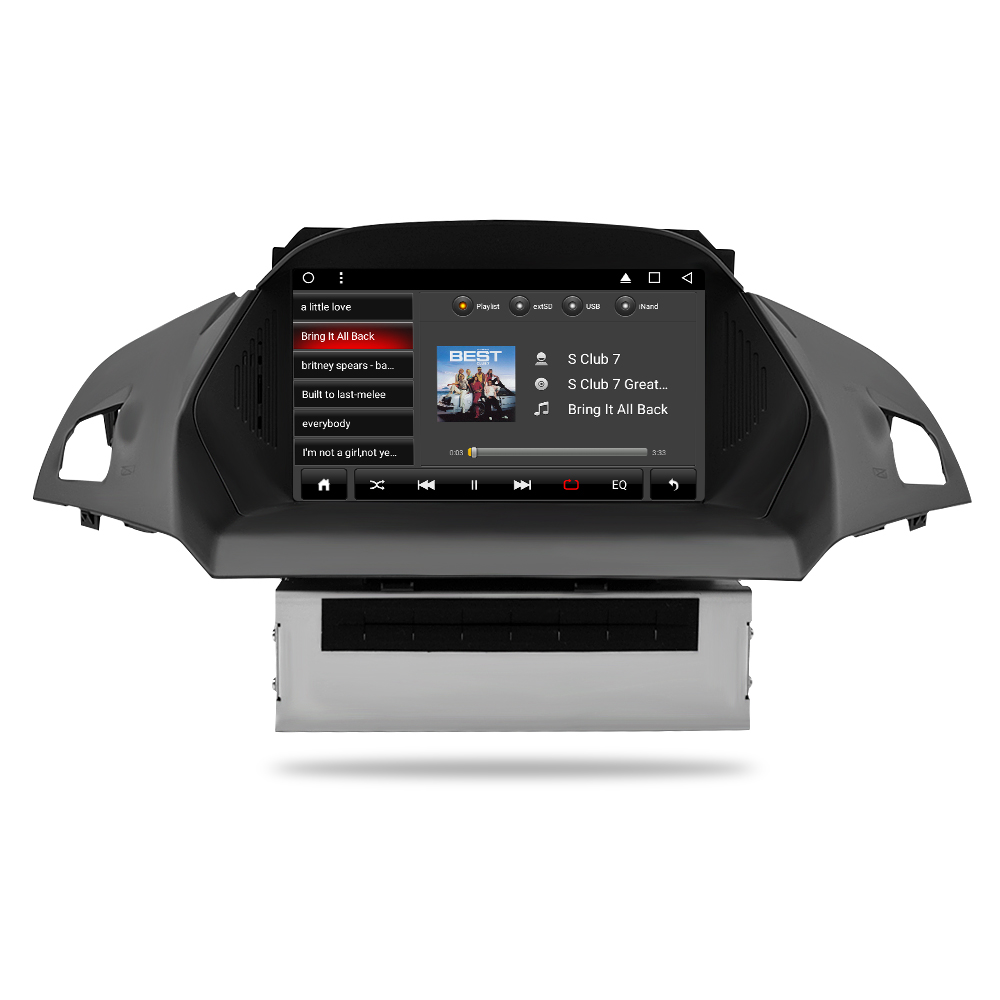 US $401 8 18% OFF|Android 7 1 Car DVD Player GPS Glonass Navigation  Multimedia for Europe Ford Kuga C Max 2013+ Auto Radio Audio Video  Stereo-in Car
