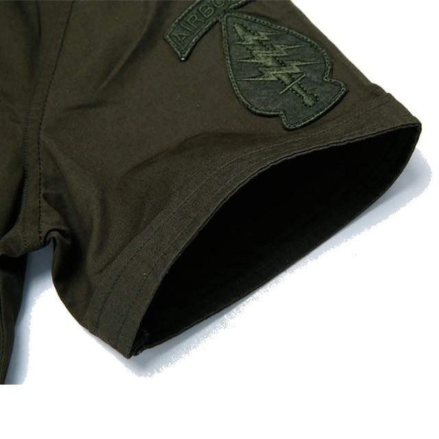 New fashion men short sleeve shirt slim fit high quality cotton dress shirts 3 colors M-6XL AYG57 3