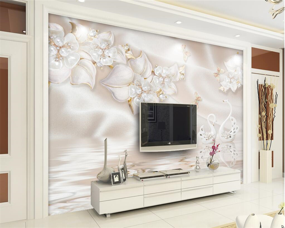 Beibehang Modern Family Background Decorative 3D Wallpaper Luxury ...