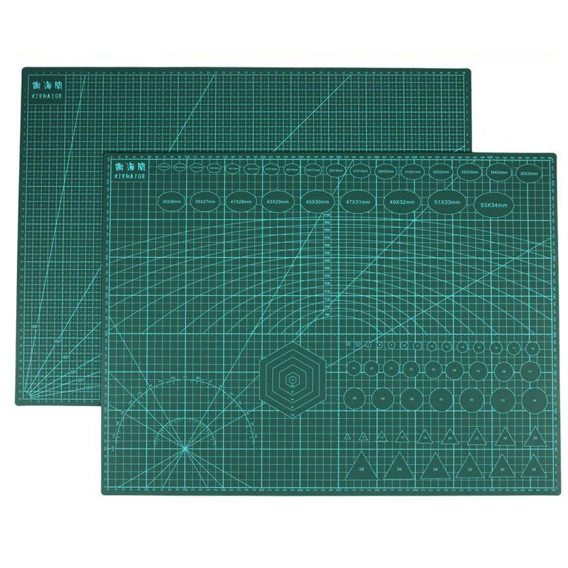 Reusável a2 tapete de corte retalhos lado durável a2 pvc escultura corte esteiras ferramentas da placa de corte para retalhos 3mm espessura